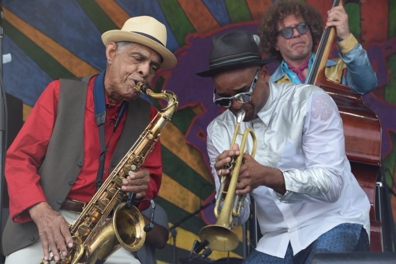 Preservation Hall Jazz Band performing at the 2018 New Orleans Jazz & Heritage Festival (photo by Joel A. Siegel)
