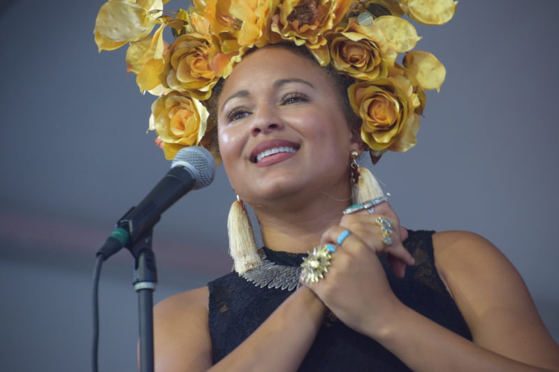Robin Barnes performing at the 2018 New Orleans Jazz & Heritage Festival (photo by Joel A. Siegel)