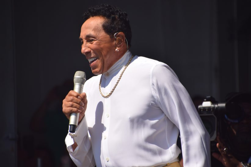 Smokey Robinson performing at the 2018 New Orleans Jazz & Heritage Festival (photo by Joel A. Siegel)