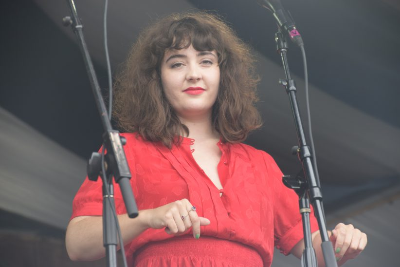 Tatiana Eva-Marie performing at the 2018 New Orleans Jazz & Heritage Festival (photo by Joel A. Siegel)