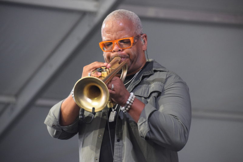 Terence Blanchard performing at the 2018 New Orleans Jazz & Heritage Festival (photo by Joel A. Siegel)