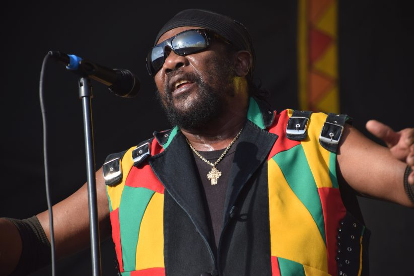 Reggae legend Toots Hibbert performing at the 2018 New Orleans Jazz & Heritage Festival (photo by Joel A. Siegel)