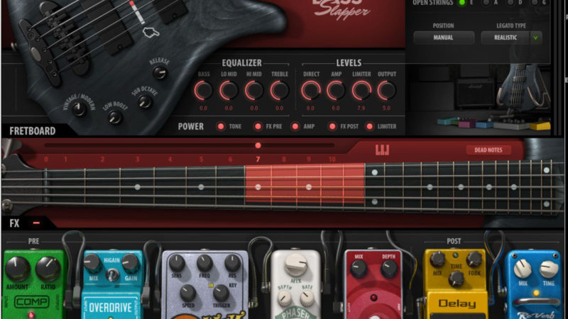 Waves Bass Slapper - previewed in GearHead column of new musical instruments and equipment