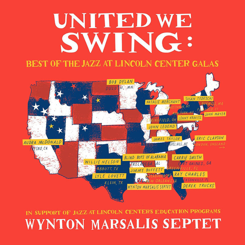 Cover of Wynton Marsalis Septet album United We Swing: Best of the Jazz at Lincoln Center Galas on Blue Engine