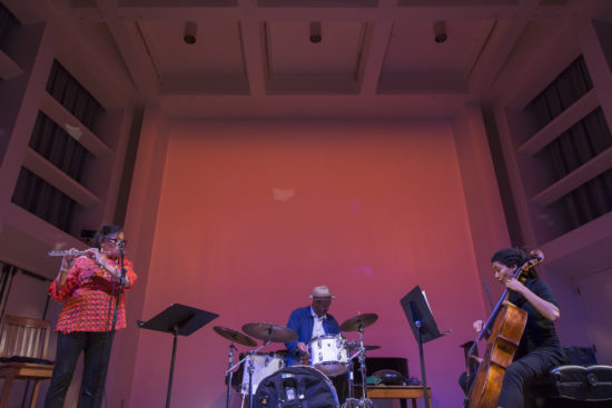 Artifacts Trio: Nicole Mitchell, Mike Reed, Tomeka Reid