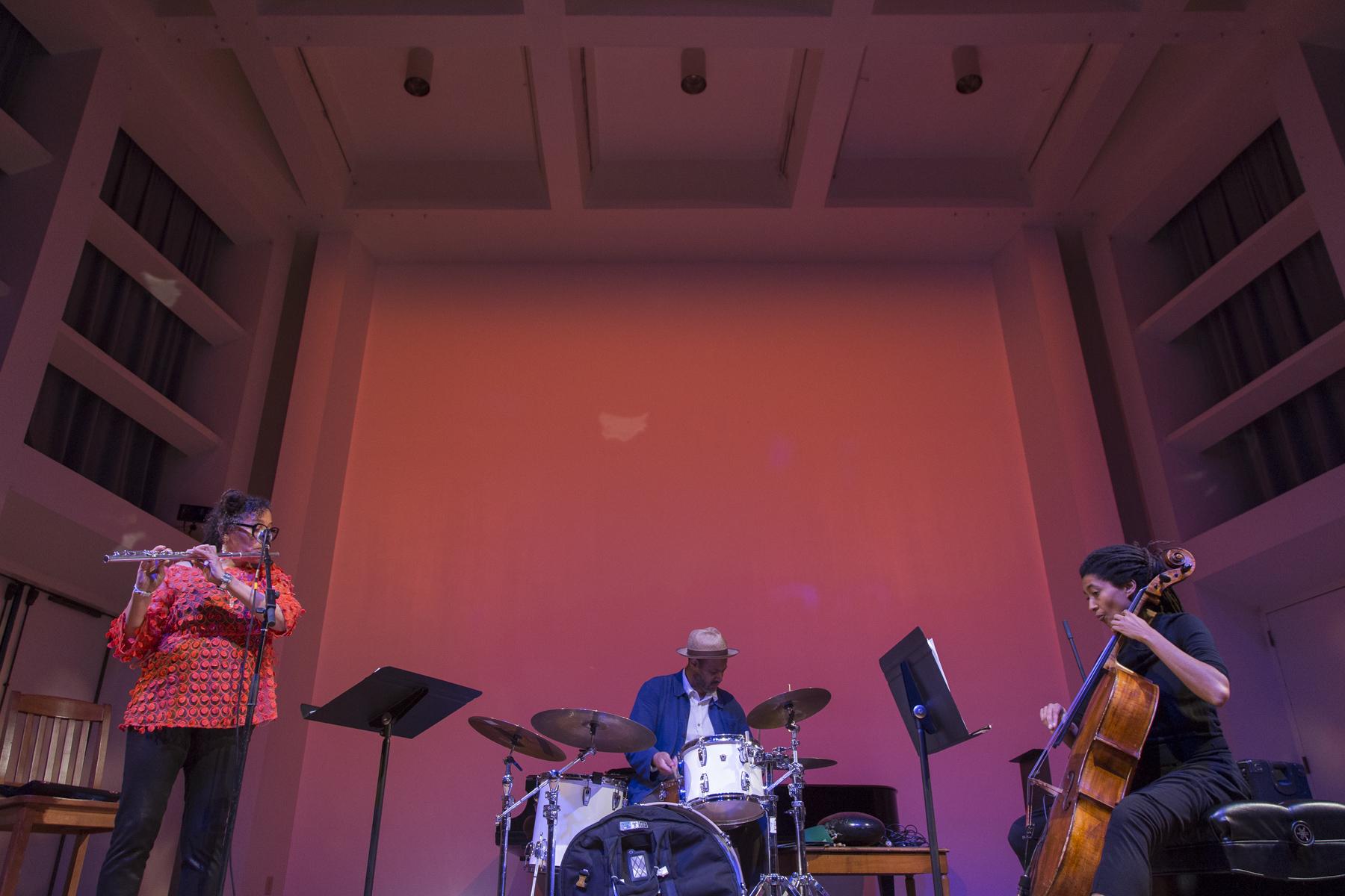 Artifacts Trio: Nicole Mitchell, Mike Reed, Tomeka Reid