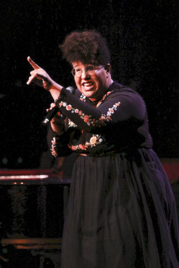 Brittany Howard of the Alabama Shakes performing at the Jazz Foundation of America 16th Annual A Great Night in Harlem Gala Concert at the Apollo in NYC (photo by Udo Salters c/o JFA)