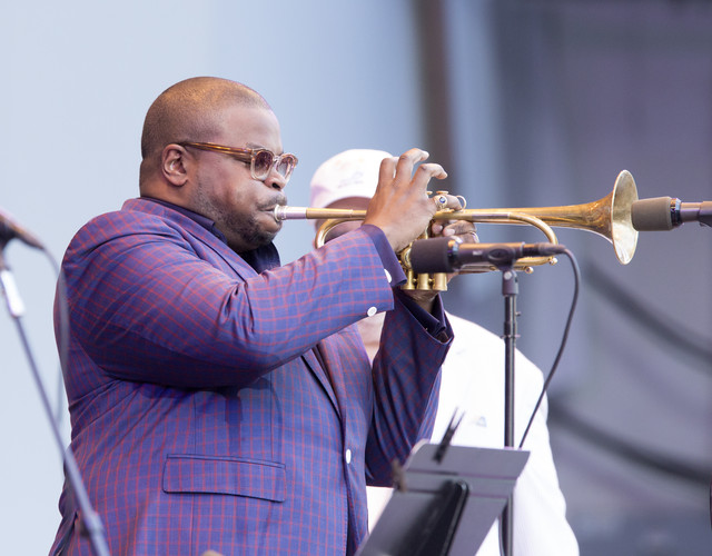 Jeremy Pelt at the 2018 Playboy Jazz Festival