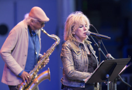 Charles Lloyd and Lucinda Williams at the 2018 Playboy Jazz Festival