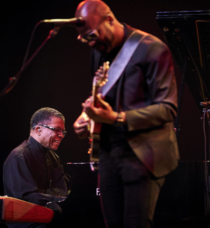 Herbie Hancock and Lionel Loueke at the 2018 Montreal Jazz Festival