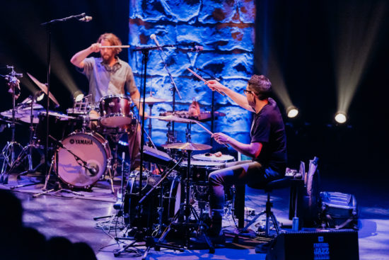 Billy Martin and Mark Guiliana at the 2018 Montreal Jazz Festival