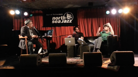 Terrace Martin and Michael League in conversation with Ashley Kahn at the North Sea Jazz Festival, July 2017