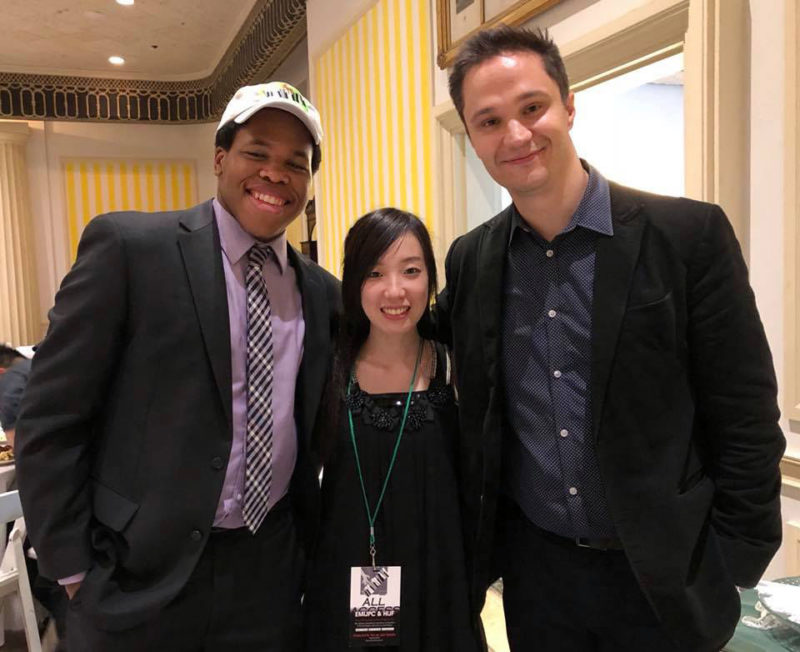 saiah Thompson, Rina Yamazaki, and Ben Paterson, winners of the 2018 Ellis Marsalis International Jazz Piano Competition