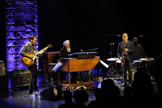 Jonathan Kreisberg, Dr. Lonnie Smith, Chris Potter, and Johnathan Blake at the 2018 Montreal Jazz Festival