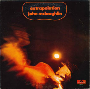 Cover of John McLaughlin album Extrapolation, a seminal record in the world of jazz and progressive rock