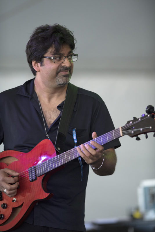 Rez Abbasi at the 2018 Newport Jazz Festival