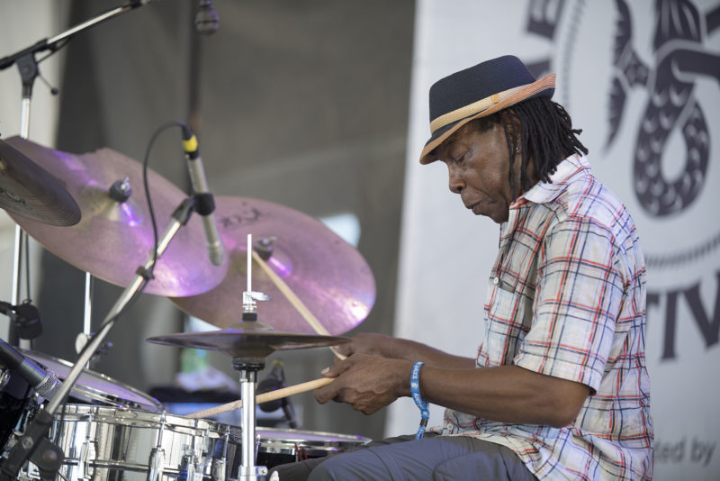 Newman Taylor Baker at the 2018 Newport Jazz Festival