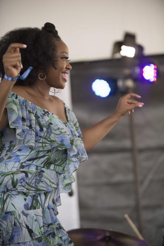 Alicia Olatuja at the 2018 Newport Jazz Festival