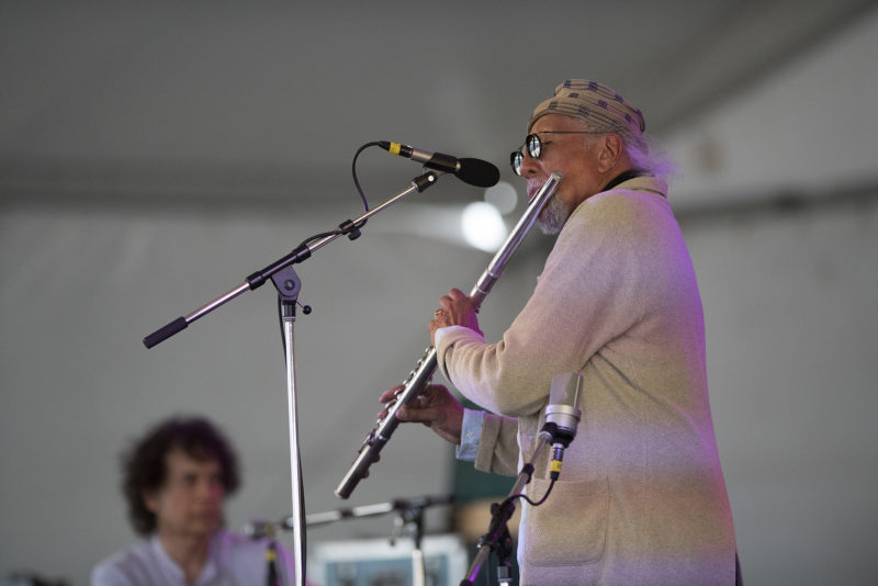Zakir Hussain and Charles Lloyd at the 2018 Newport Jazz Festival