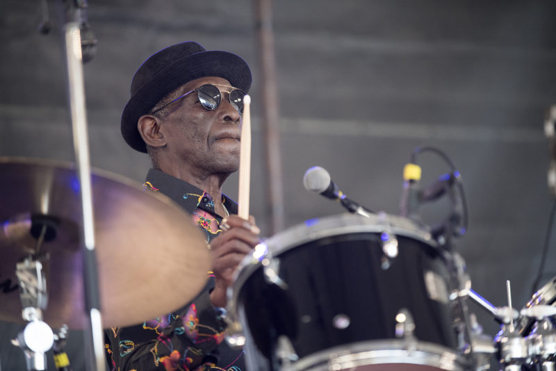 Tony Allen at the 2018 Newport Jazz Festival