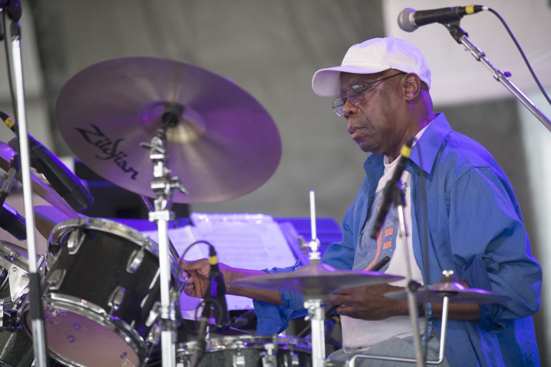 Andrew Cyrille at the 2018 Newport Jazz Festival
