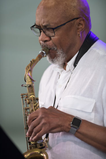 Oliver Lake at the 2018 Newport Jazz Festival