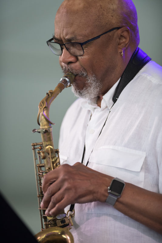 Oliver Lake at the 2018 Newport Jazz Festival (photo: Marek Lazarski)