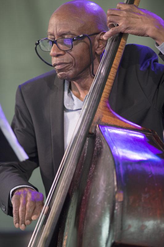 Reggie Workman at the 2018 Newport Jazz Festival (photo: Marek Lazarski)