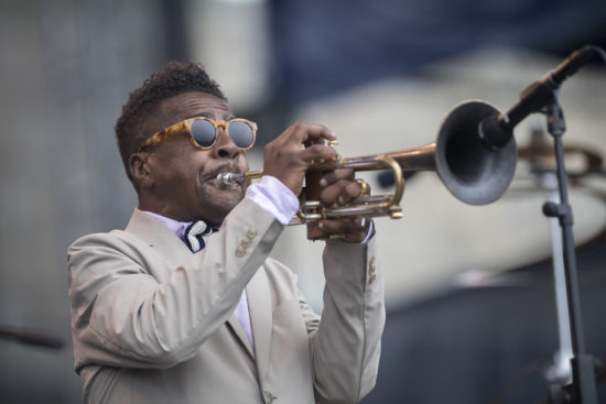 Roy Hargrove at the 2018 Newport Jazz Festival