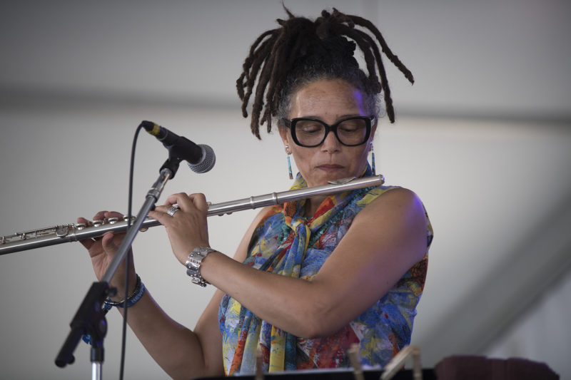 Nicole Mitchell at the 2018 Newport Jazz Festival (photo: Marek Lazarski)