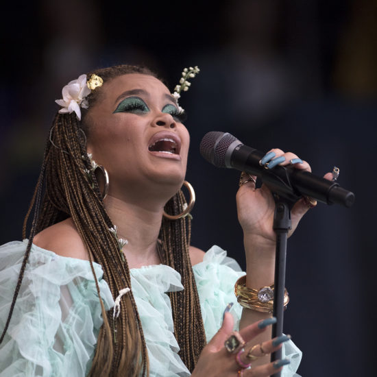 Andra Day at the 2018 Newport Jazz Festival