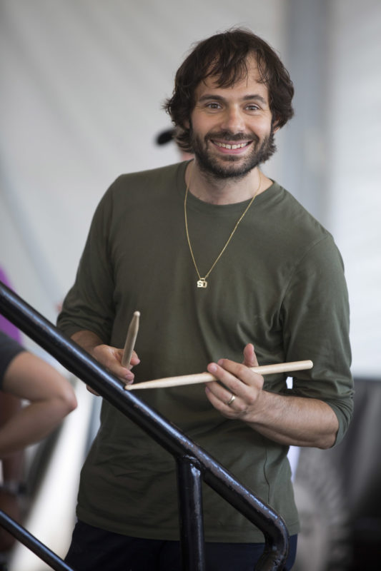 Dan Weiss at the 2018 Newport Jazz Festival