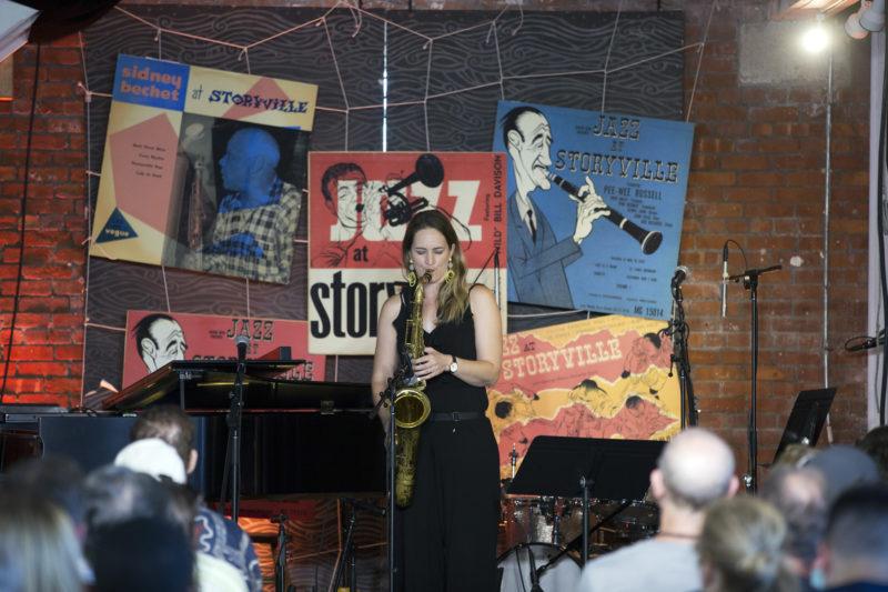 Roxy Coss at the 2018 Newport Jazz Festival