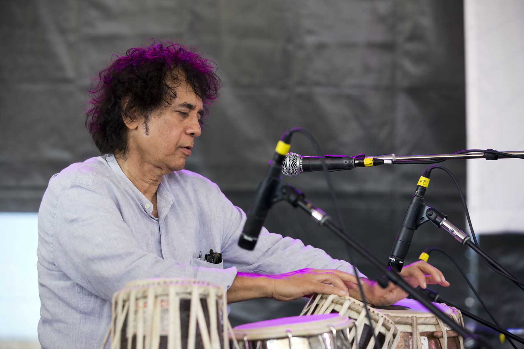 Zakir Hussain at the 2018 Newport Jazz Festival