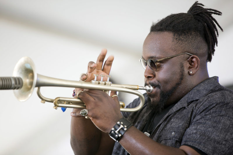 Marquis Hill at the 2018 Newport Jazz Festival