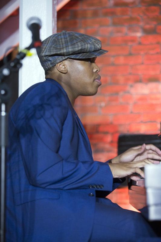 Isaiah J. Thompson at the 2018 Newport Jazz Festival (photo: Alan Nahigian)