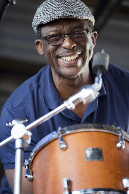 Herlin Riley at the 2018 Newport Jazz Festival (photo: Alan Nahigian)