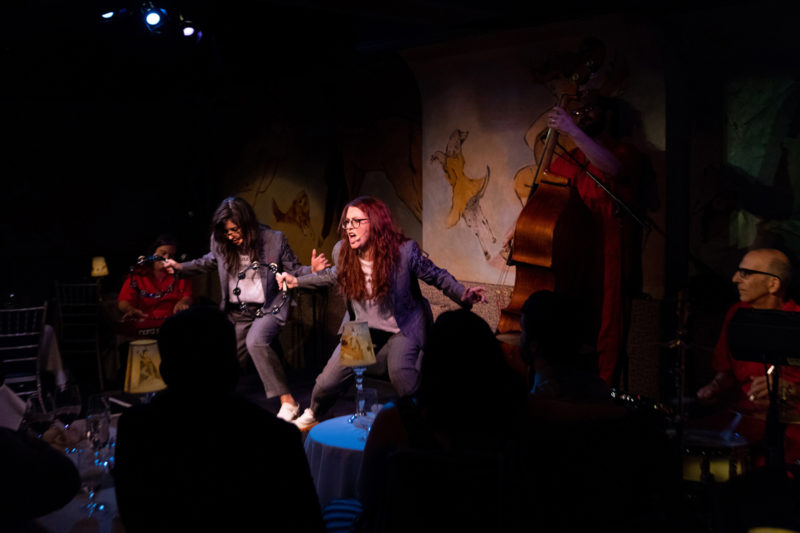 Stephanie Hunt and Megan Mullally as Nancy And Beth at the Café Carlyle