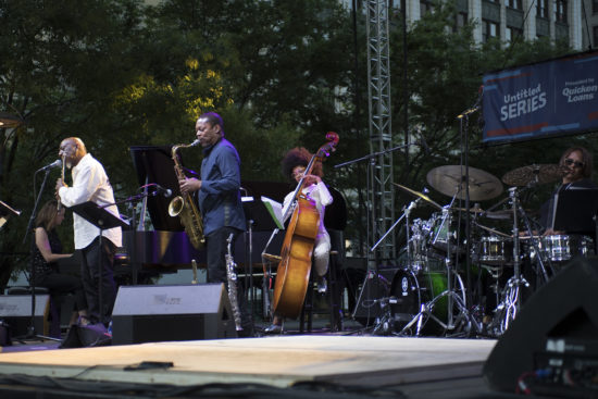 Kris Davis, Dave McMurray, Ravi Coltrane, Esperanza Spalding, and Teri Lynne Carrington pay tribute to Geri Allen at the 2018 Detroit Jazz Festival