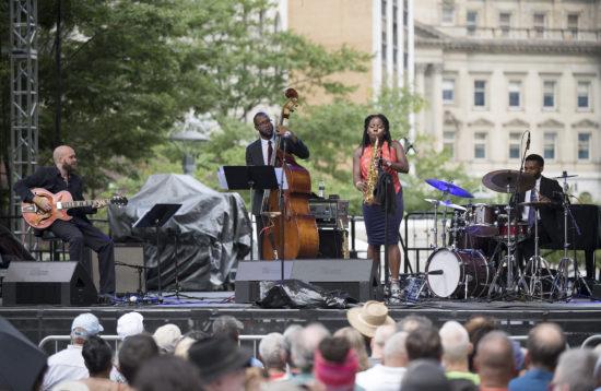 The Tia Fuller Quartet at the 2018 Detroit Jazz Festival