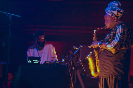 The Twilite Tone (left) and Matana Roberts at Thalia Hall, Chicago, Aug. 30, 2018
