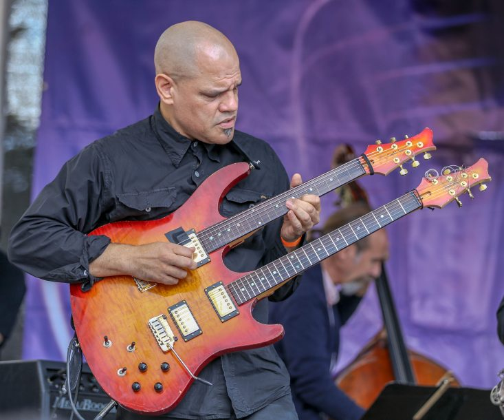 David Fiuczynski at the Berklee Beantown Jazz Festival, Boston, MA, Sept. 29, 2018