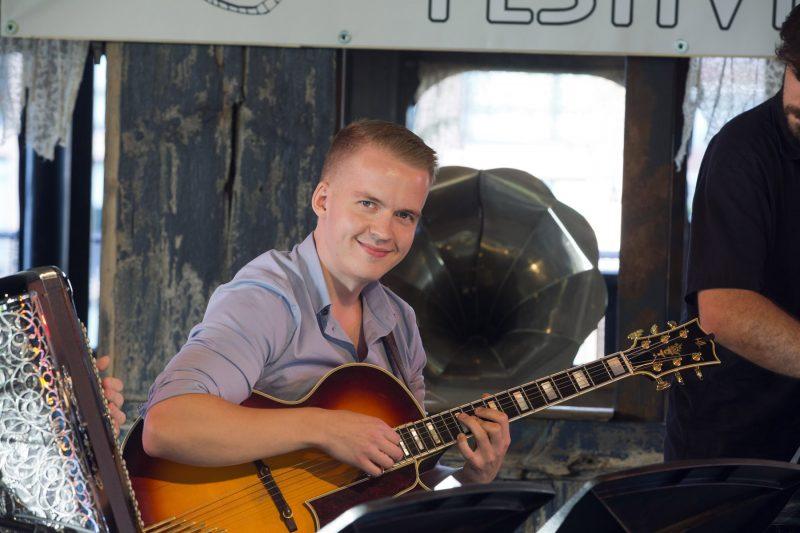 Olli Soikkeli at the 2018 New York Hot Jazz Festival (photo: Alan Nahigian)
