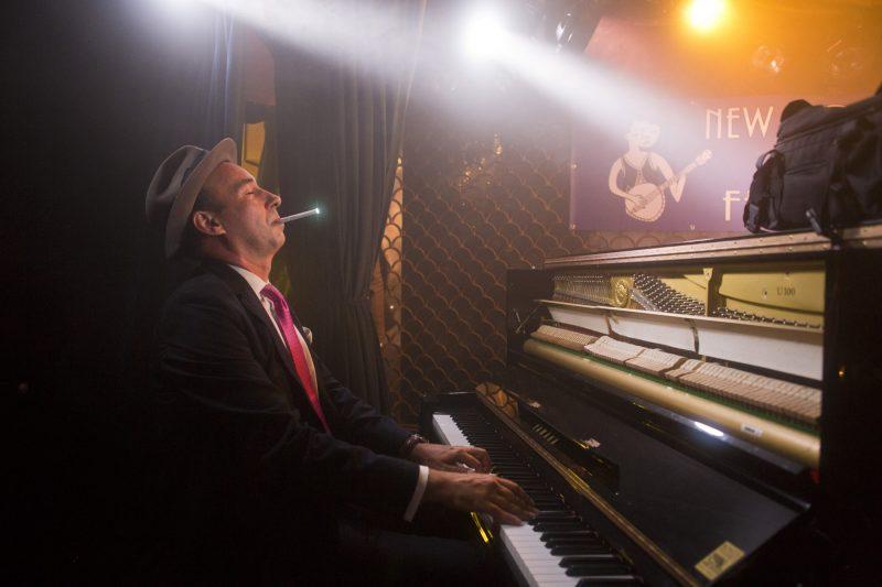 Evan Palazzo of the Hot Sardines at the 2018 New York Hot Jazz Festival (photo: Alan Nahigian)