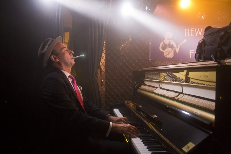 Evan Palazzo of the Hot Sardines at the 2018 New York Hot Jazz Festival (photo: Alan Nahigian)