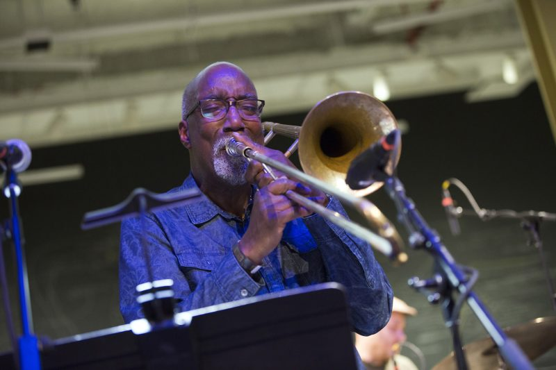 Curtis Fowlkes at the 2018 BRIC JazzFest