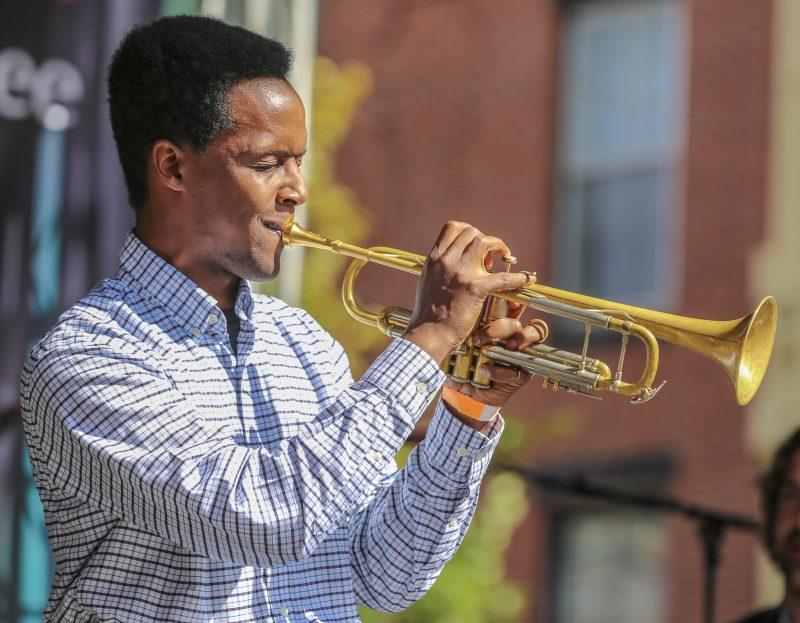 Jason Palmer at the Berklee Benton Jazz Festival, Boston, MA, Sept. 29, 2018