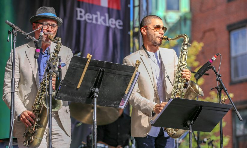 Marco Pignataro (left) and Edmar Colon at the Berklee Beantown Jazz Festival, Boston, MA, Sept. 29, 2018