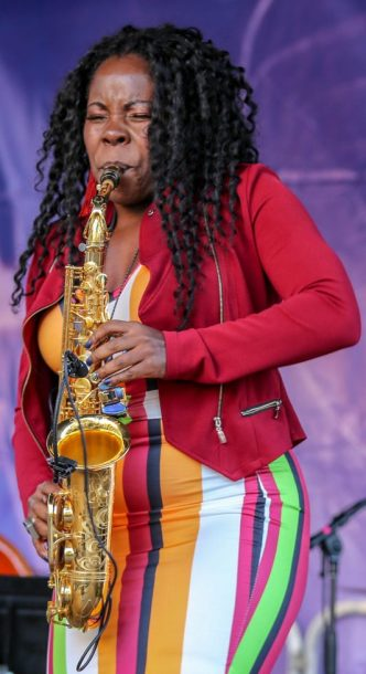 Tia Fuller at the Berklee Beantown Jazz Festival, Boston, MA, Sept. 29, 2018