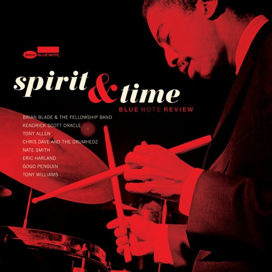 """The cover of <I>Blue Note Review Vol. 2: Spirit & Time</I>, featuring Tony Allen's version of Tony Williams' """"City of Lights"""""""